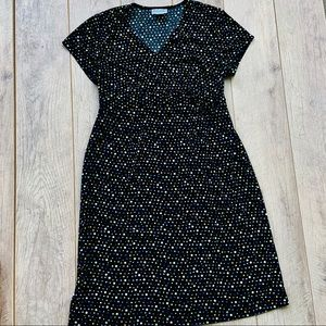 Motherhood Maternity Medium Black Polk a dot Dress